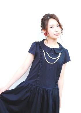 オトナ可愛い編み込みスタイル